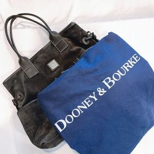 DOONEY & BOURKE Suede Blk Shoulder Bag